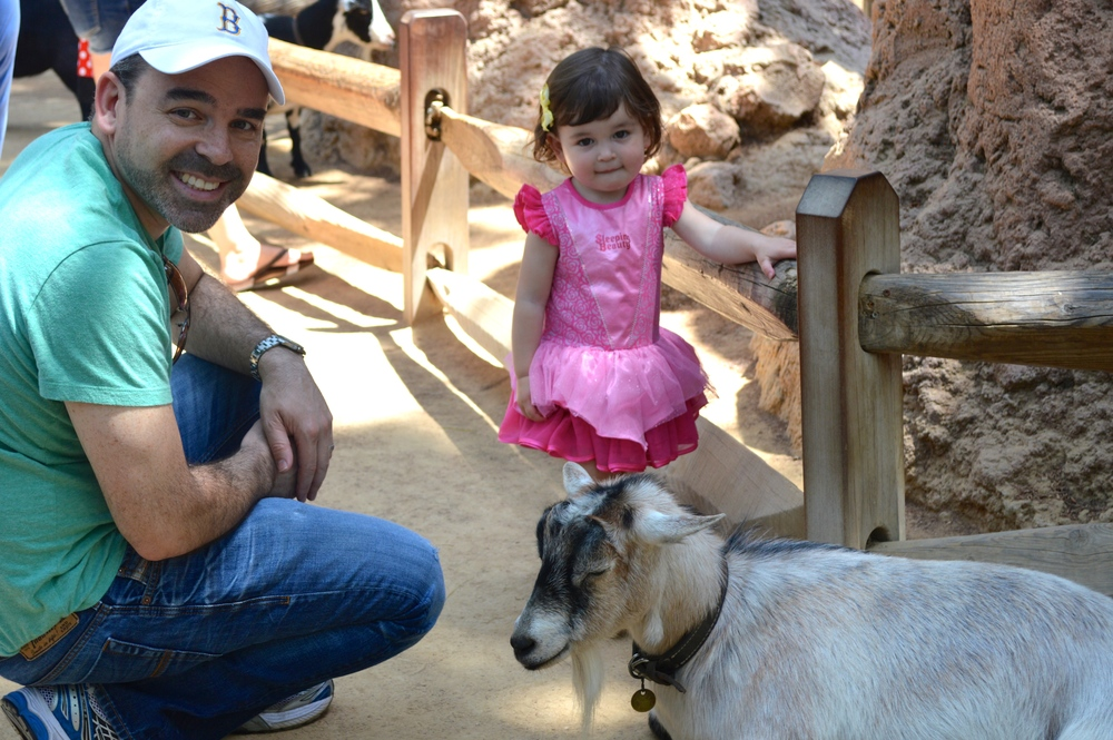 Ella and Daddy at the petting zoo