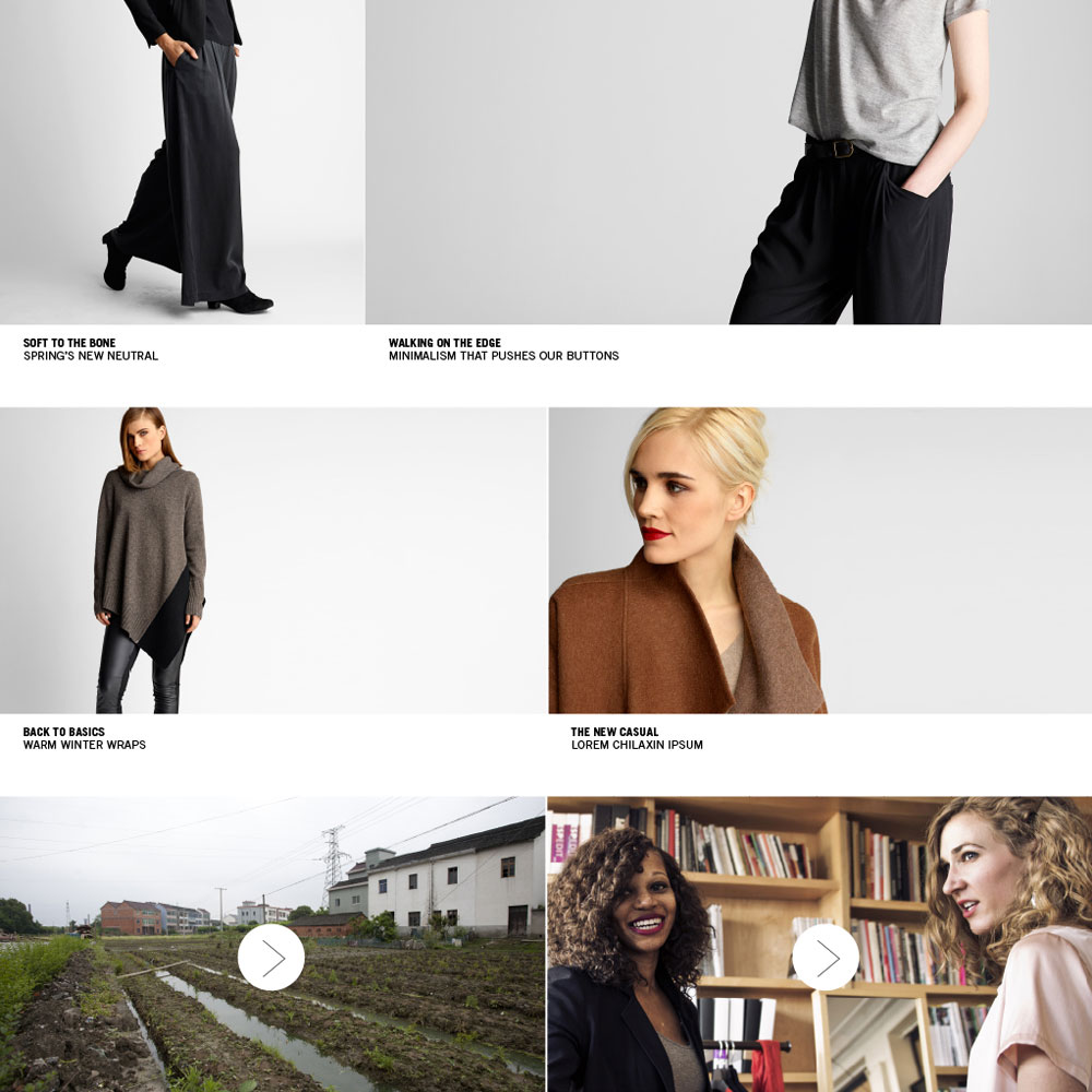 Eileen Fisher Online - ART DIRECTION + DESIGN