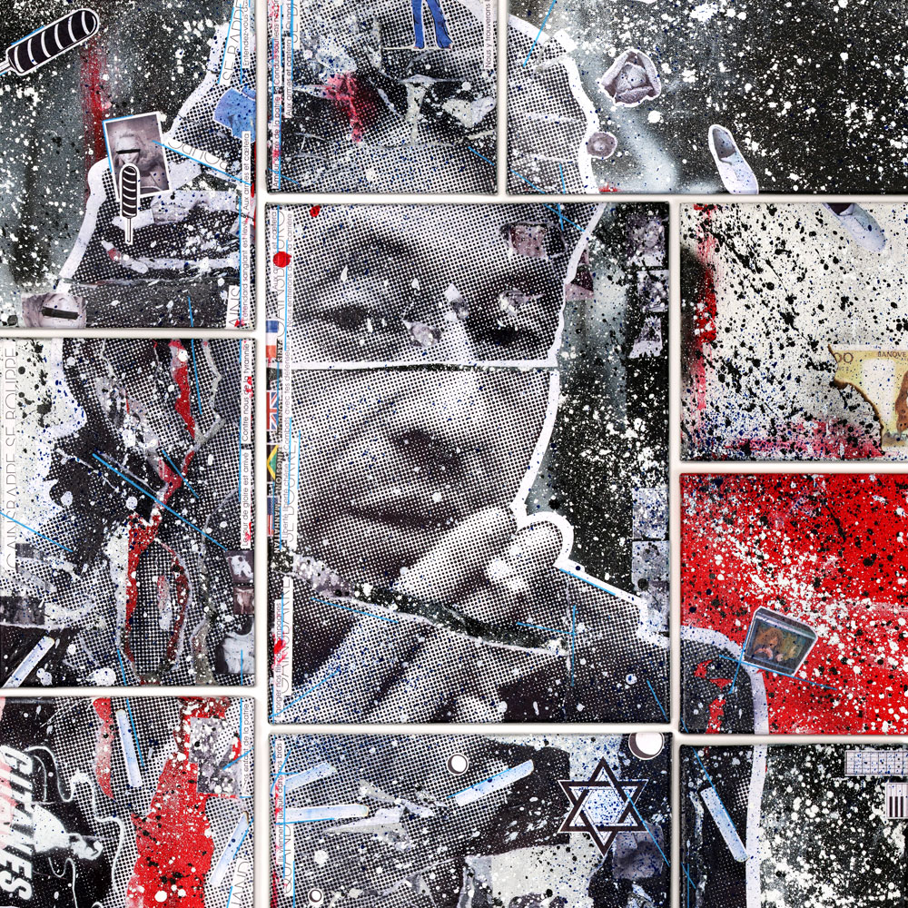 "Gainsbourg Gainsbarre - Mixed Media on Canvas, 55"" x 47"""