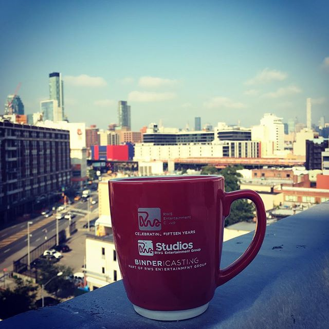 Turns out we have rooftop access! ☀️ 🌇 ☀️ 🌇 #Nyc #summer #rws #coffee #theatrical #development