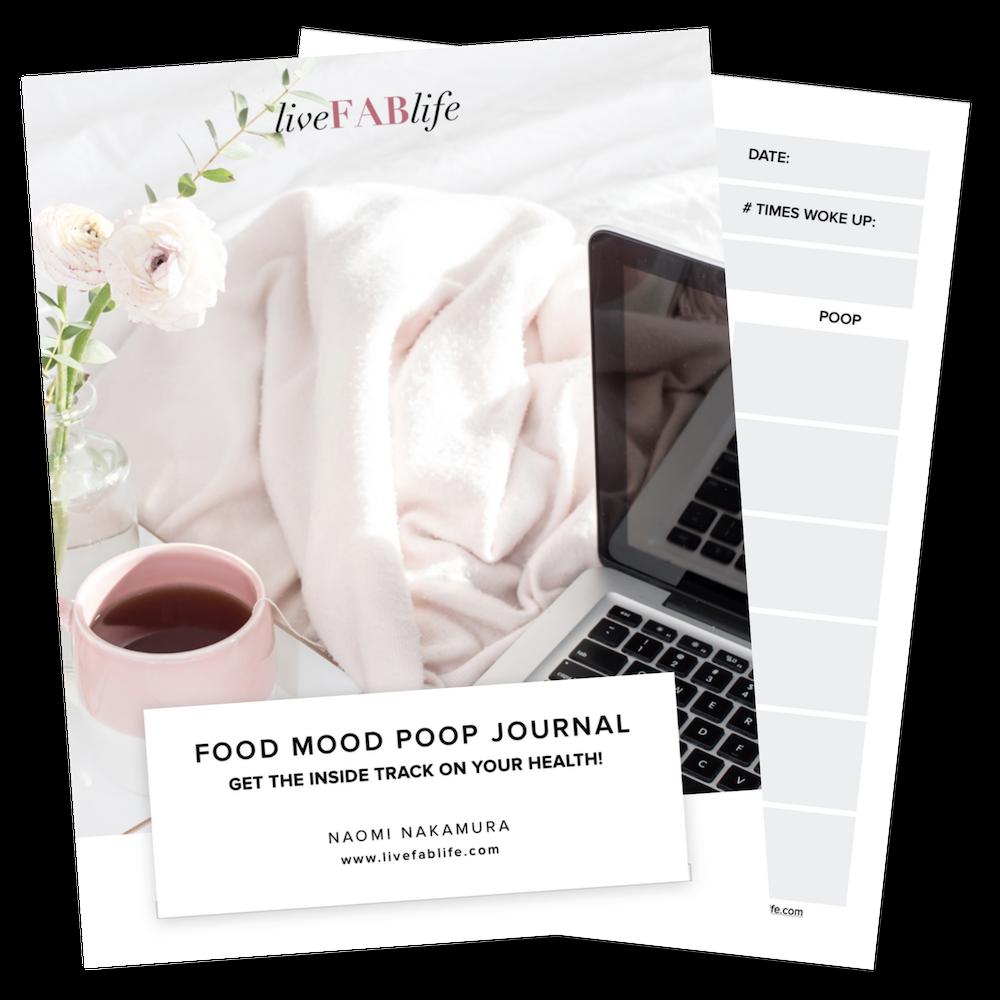 Food Mood Poop Journal, Live FAB Life