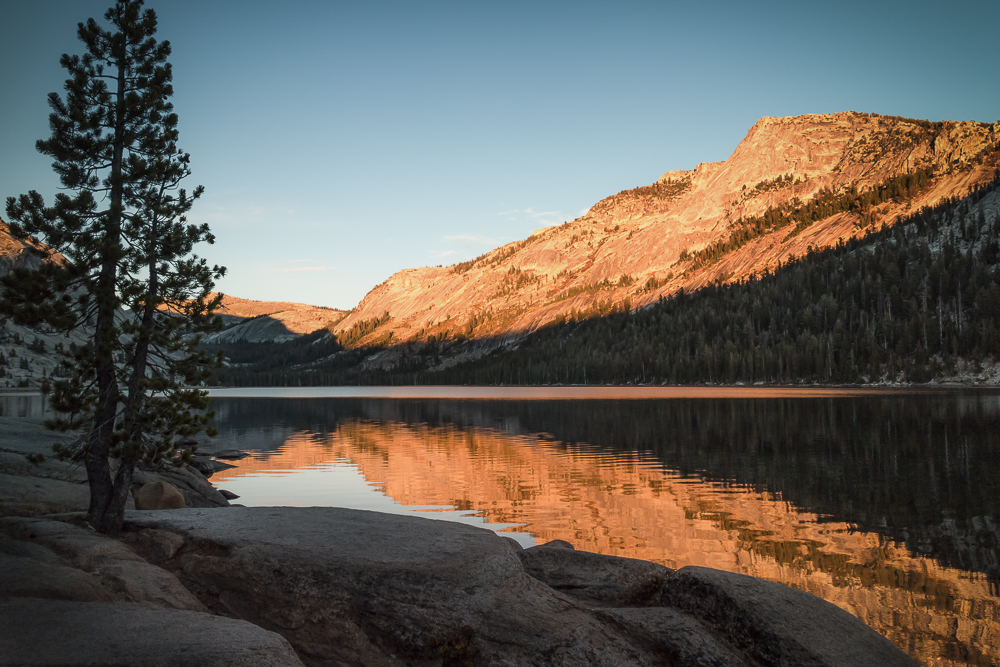 Sunset on Tenaya Lake