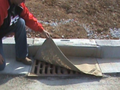 EZ-Flo w/ Curb Protection: Easy to install, replace, and service.  Reusable.Catches sediment & trash.