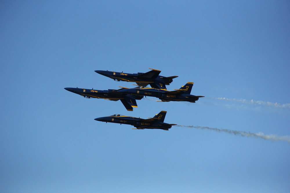 The U.S. Navy Blue Angels (F/A-18 Hornet)