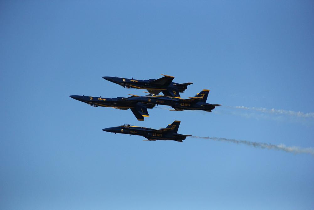 The U.S. Navy Blue Angels (F/A-18 Hornet)