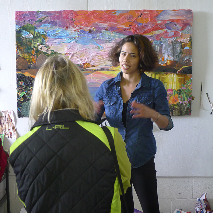 Recent Yale Art grad Camille Hoffman talking about a recently completed painting.