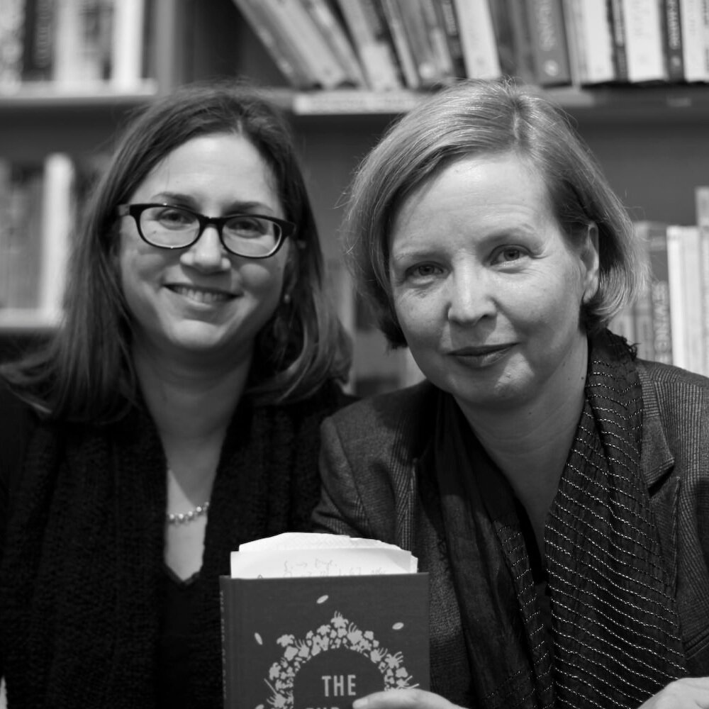 Jenny Erpenbeck (r) and her translator, Susan Bernofsky