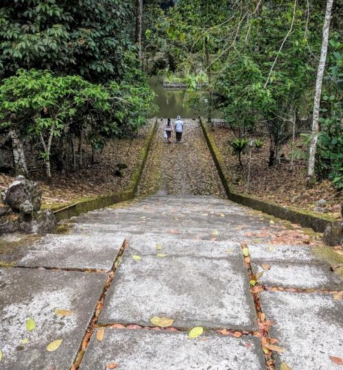 The steps at Pura Luhur Batakaru.