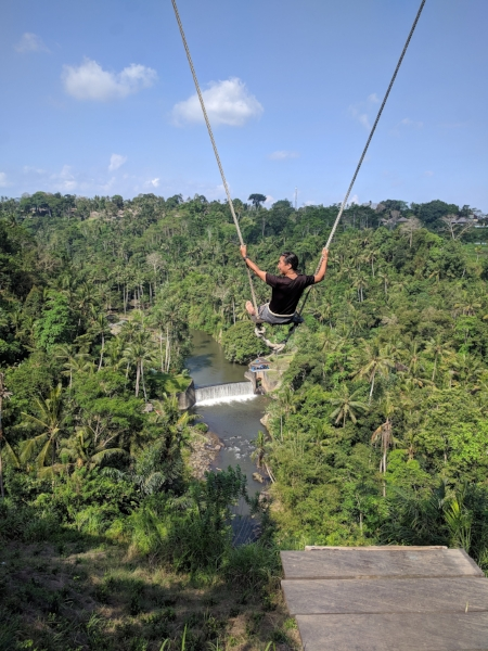 This photo has nothing to do with Mt Agung, but I got to ride on this swing!! A few days earlier, my friend Cito obtained the co-managing position for this villa, and he invited me for a visit! You can check out #zenhideaway to see better photos and models than this one! (Or here: https://www.instagram.com/explore/tags/zenhideaway/)