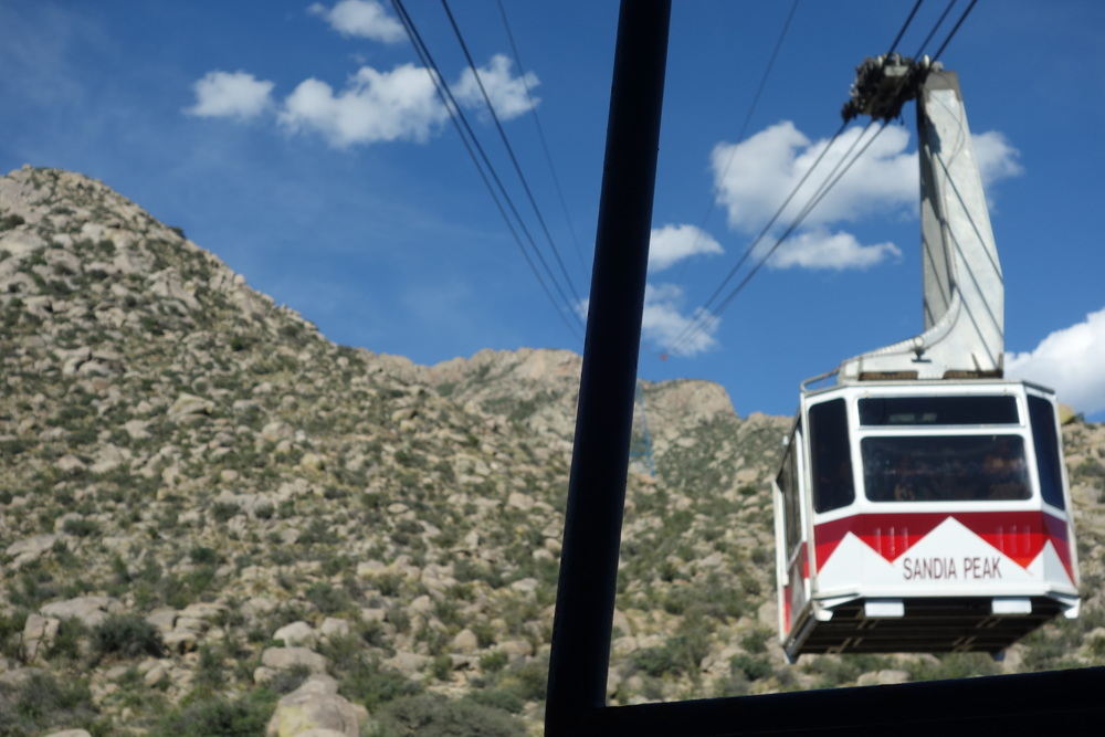 Took the Sandia tram up, way up.
