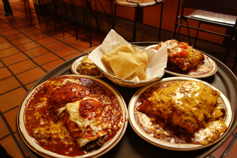 Had breakfast at Sadie's, another Albuquerque staple. Enchiladas and sopapillas for days. There's nothing like eating off a plate where every bite has the potential to push everything else off.
