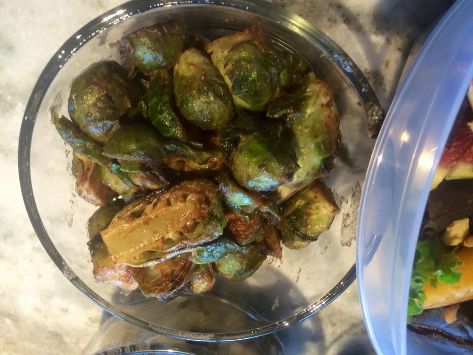 Almond Butter Brussels Sprouts