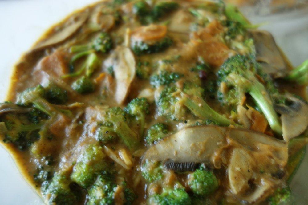 Broccoli, mushroom, squash