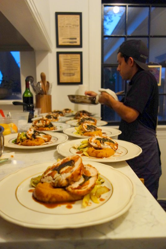 Making tight spaces work: The plating of the main course