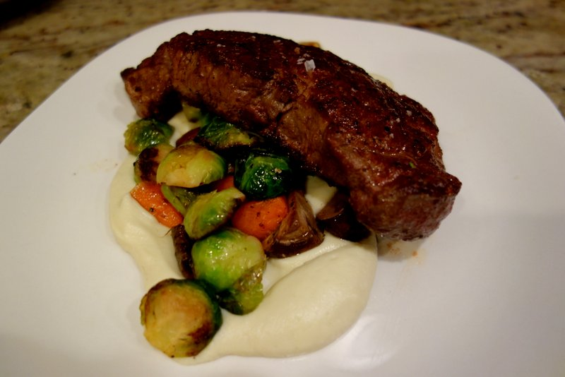 Private Dinner for Two: Wagyu, Cauliflower Puree, Roasted Vegetables