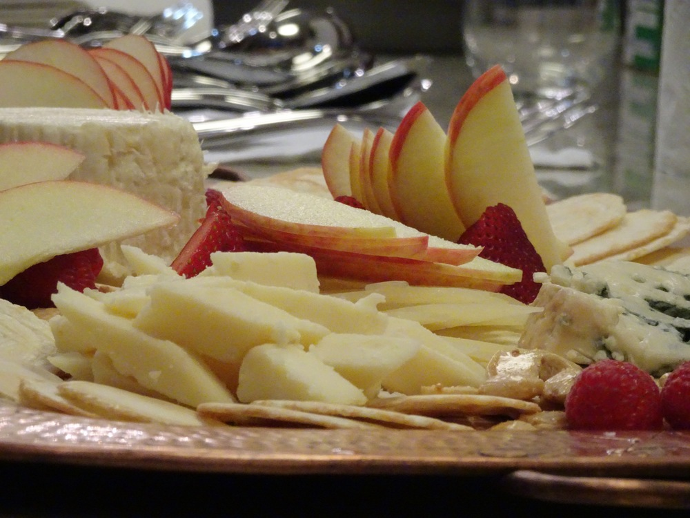 We started the evening off with a beautiful cheese plate.