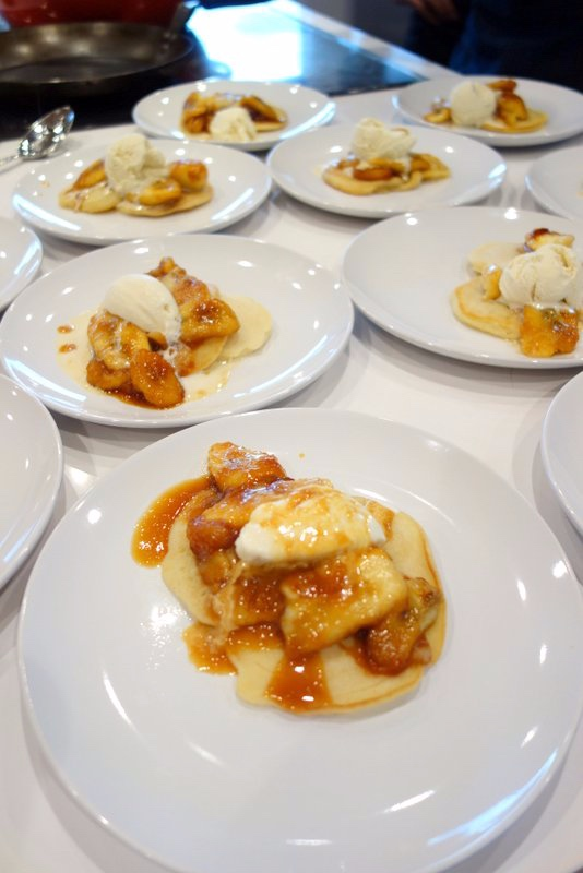 Oeey and Deliciously Gooey Bananas Foster with Rum Caramel and Vanilla Ice Cream
