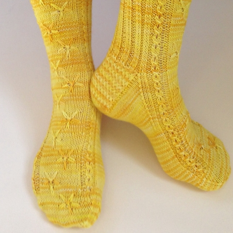 Buttercup Socks by mmmeg