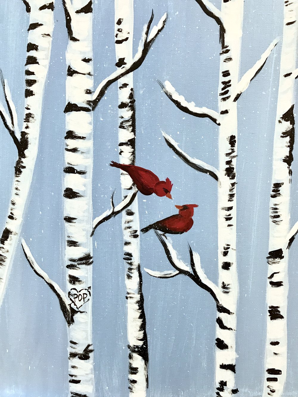 SnowyBirchTrees with 2 cardinals.jpg