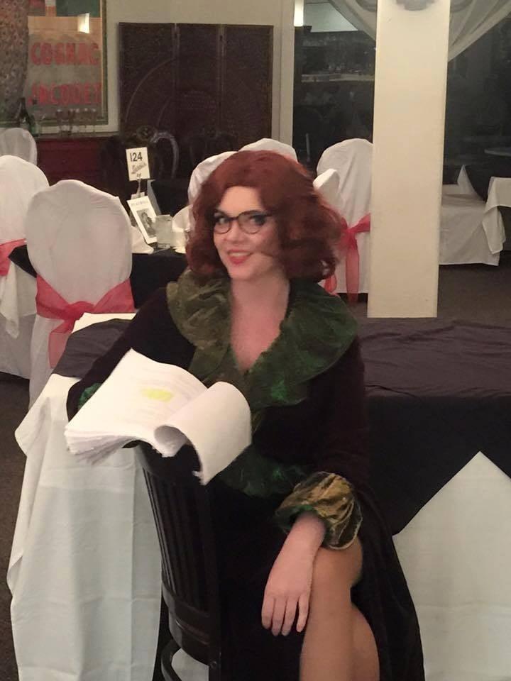 Mallory Kerwin prepares on Opening Night