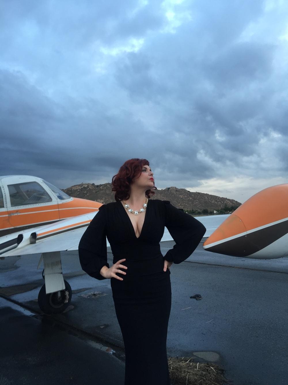 Yvette flashes screen goddess glamour.