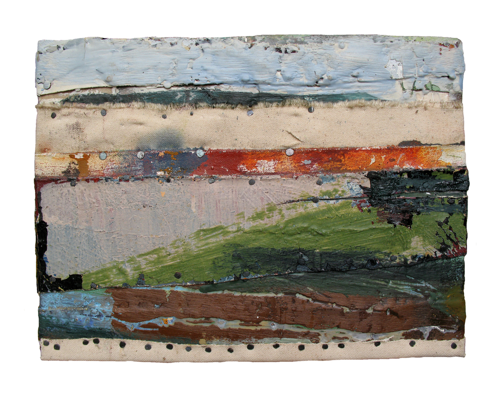 PASSING TIME, 2008  Encaustics and mixed media on panel  9 x 12 inches
