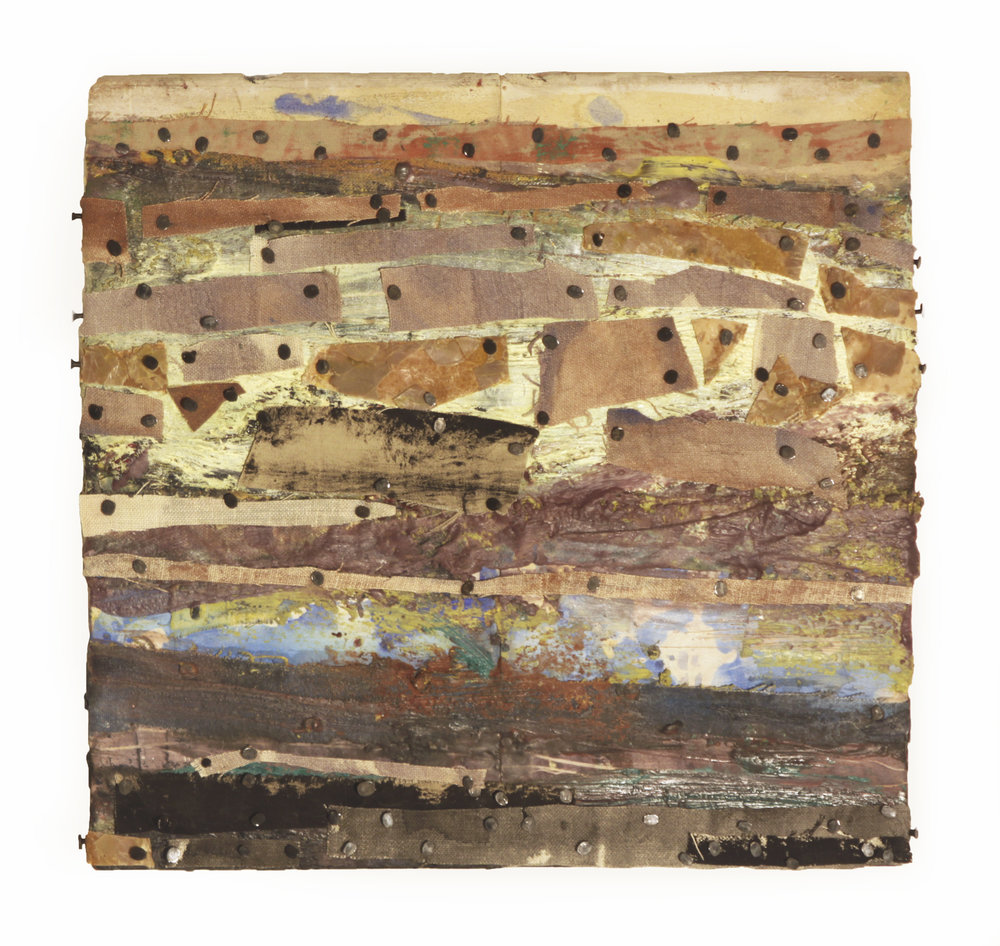 UNTITLED, 2016  Encaustics and mixed media on panel  11 x 11 1/2 inches