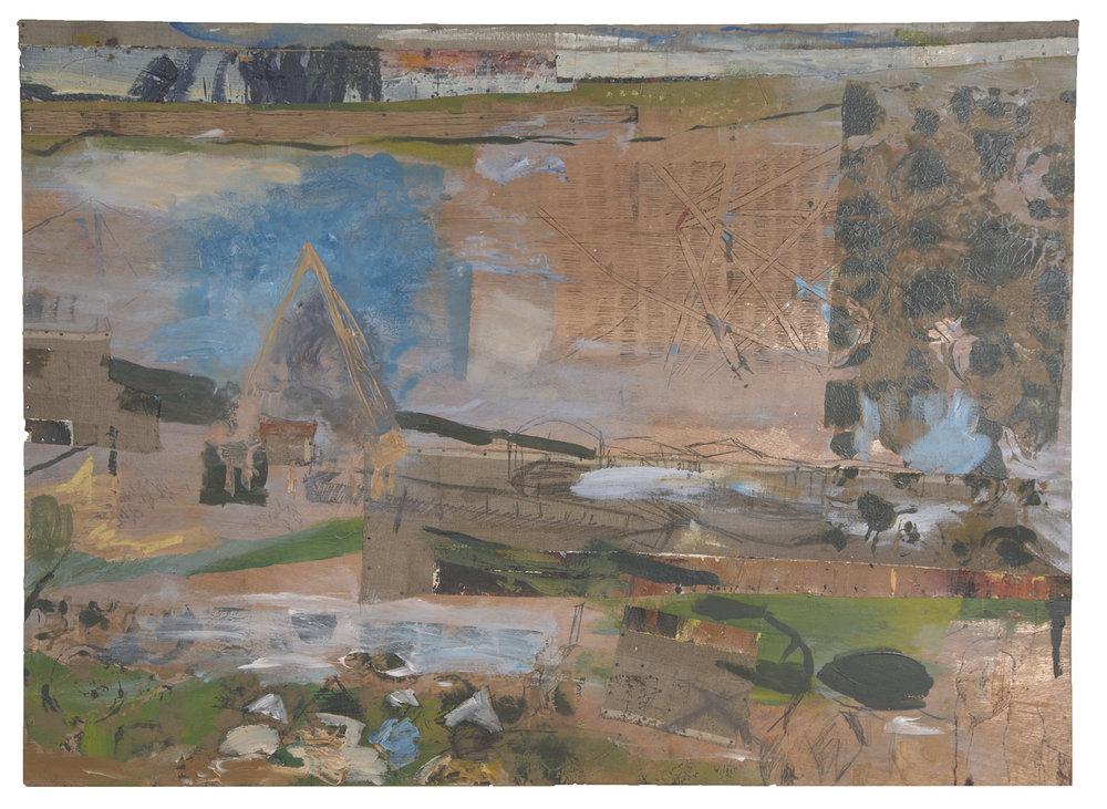 MONTAGE, VIETNAM, 2007  Encaustics and mixed media on panel  37 1/2 x 51 3/4 inches