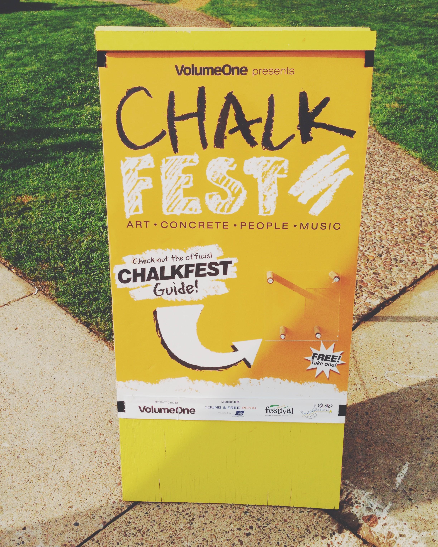 chalk fest sign