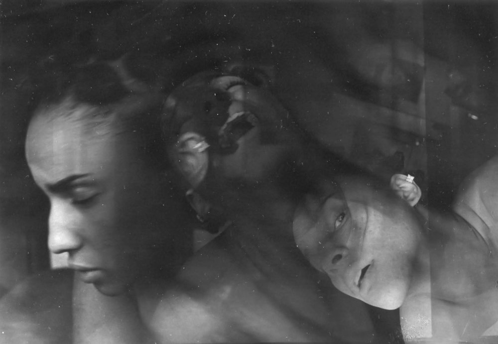 Demons. - A self portrait. Triple-exposure.Philadelphia, PA. 2016.Silver gelatin print in 10