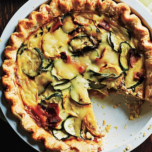 Cooking Light Zucchini Mozz Quiche