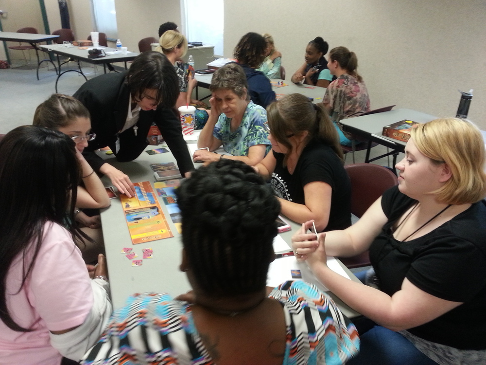 Teaching Dixit to Library staff at the Georgetown County Library in-service day.
