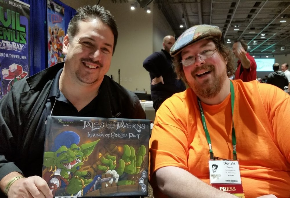 Donald at BGG 2016 With Evil Genius
