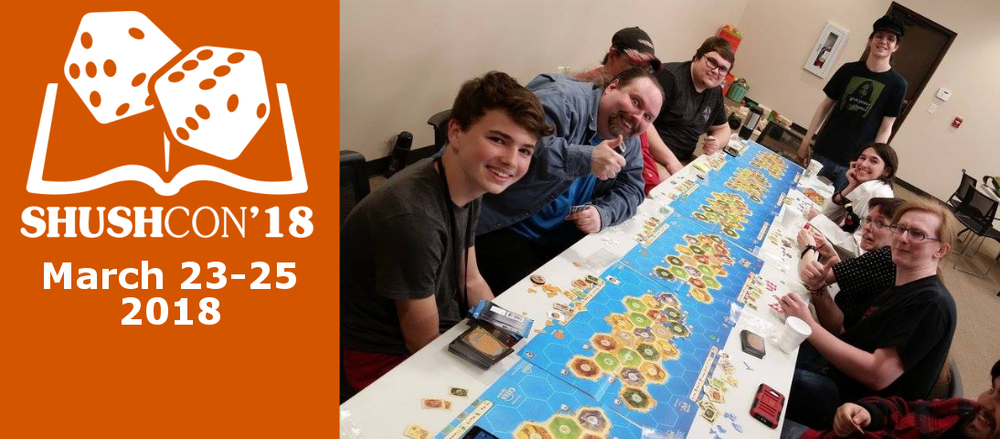 Our Catan the Big Game session from ShushCon 2017