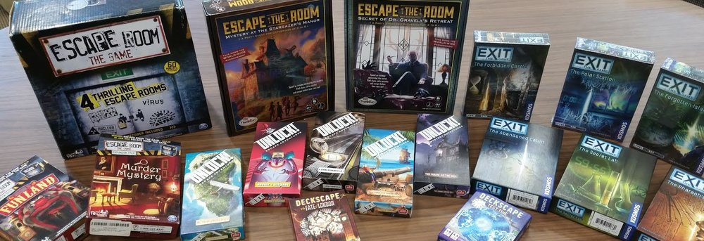 These are some of the games we will be covering in our escape room series.