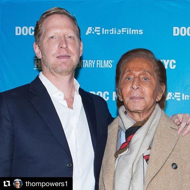 #Repost @thompowers1 - Valentino comes out for US premiere of SCOTTY AND THE SECRET HISTORY OF HOLLYWOOD with director @tyrnauer at #DOCNYC.