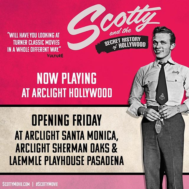 If you're not in New York, don't worry! #scottyandthesecrethistoryofhollywood is still playing at the Arclight Hollywood and will open at other theaters in the Los Angeles area on Friday.