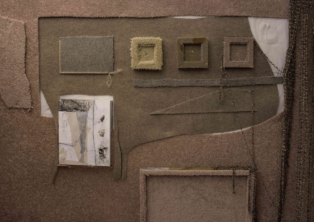 I Don't Want to Change Skin   room of carpet, paper, and charcoal  10' x 10' x 10'