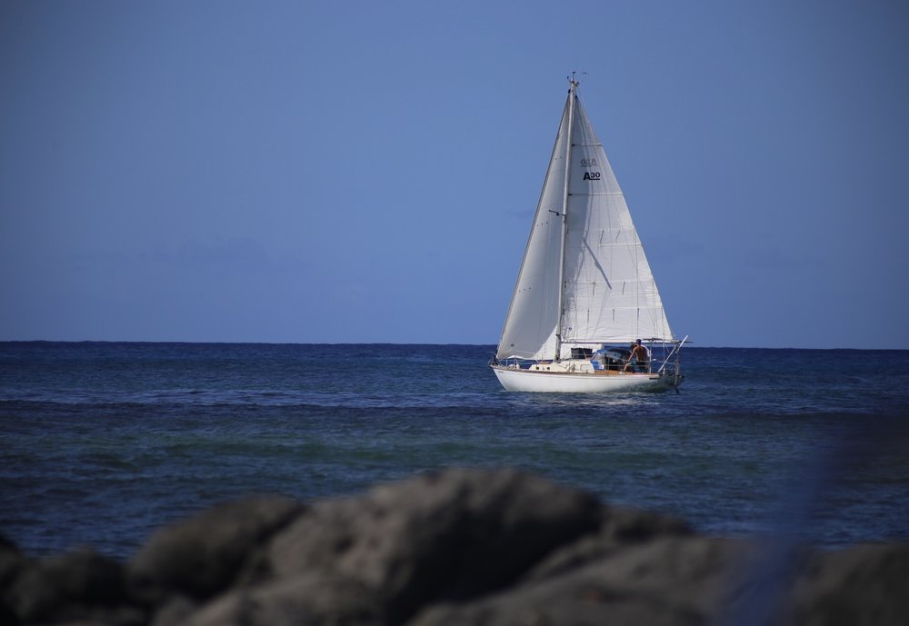 Sailing solo away fron Hawaii. www.routesofchange.org.JPG