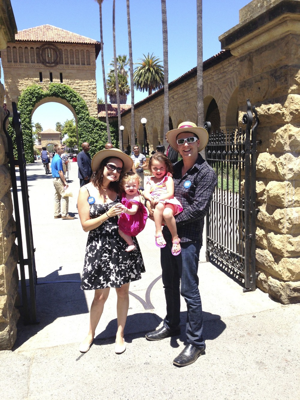 Our family at Stanford commencement