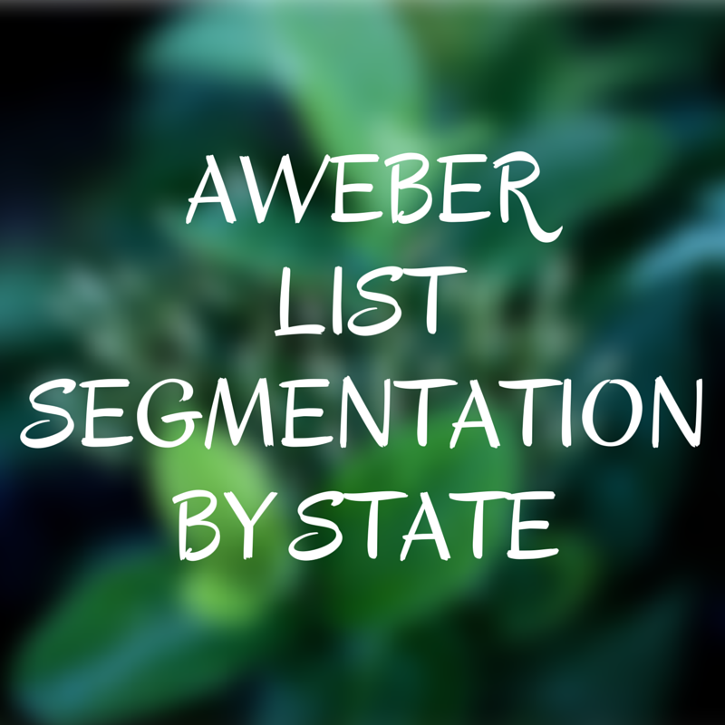 Aweber Segmentation