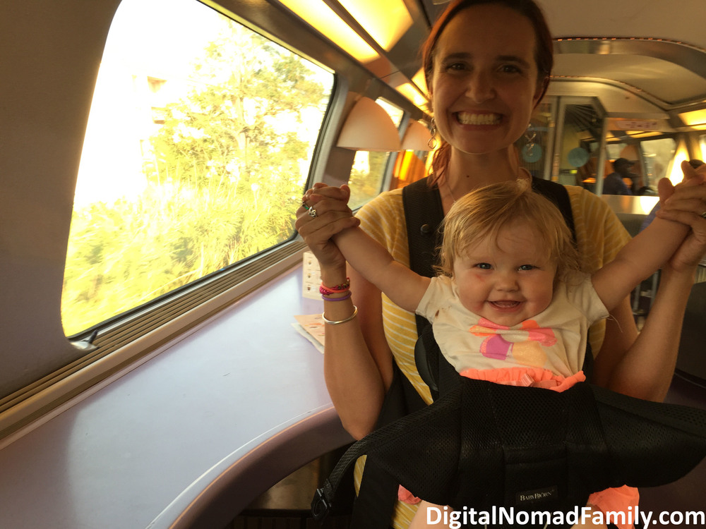 Talia was a happy baby on the train!
