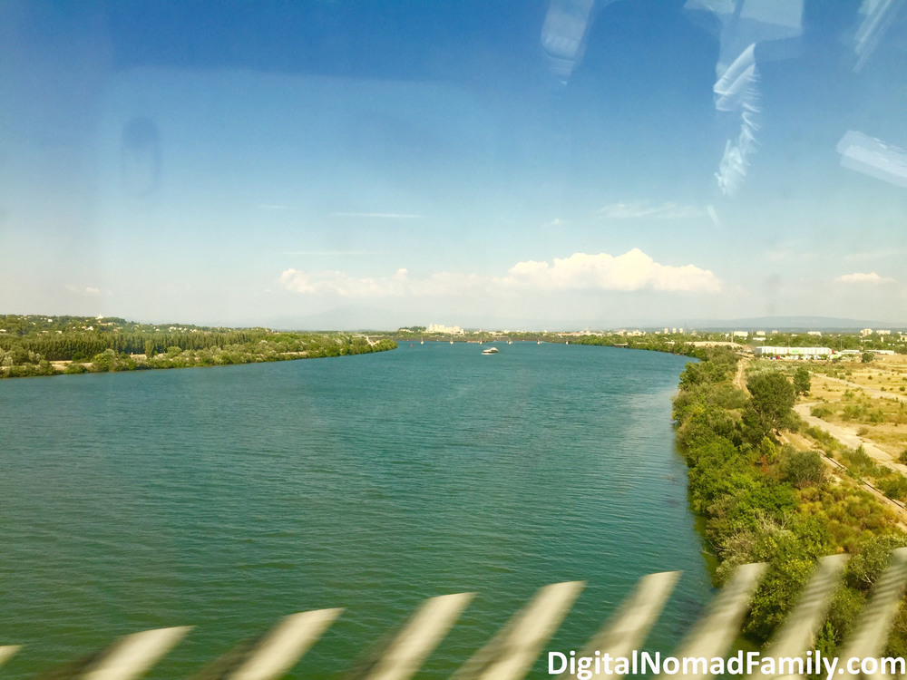 River view as we traveled through France