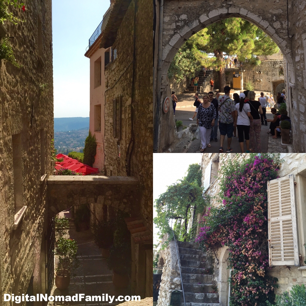 The charming narrow streets and stone buildings in St. Paul-de-Vence