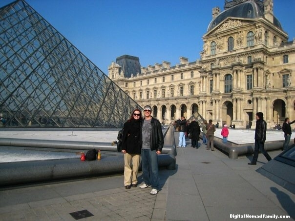 Outside the Louvre in Paris