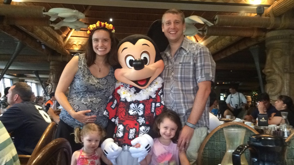 Excited to see Mickey at DisneyWorld