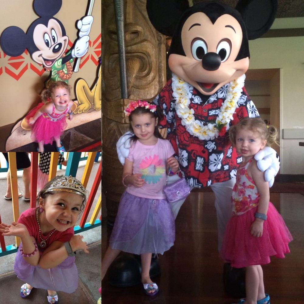 Happy girls at DisneyWorld