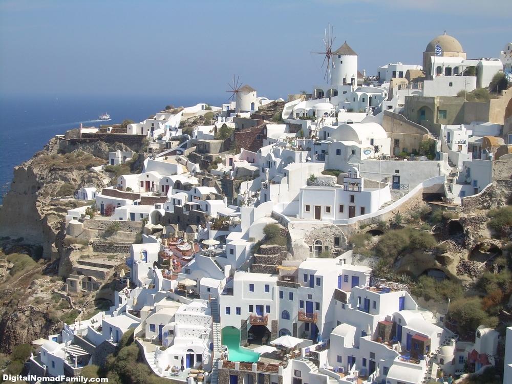 Village of Oia on Santorini