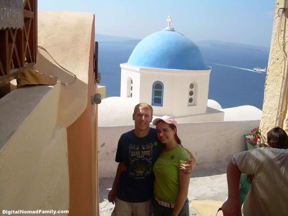 Our favorite picture spot on Santorini