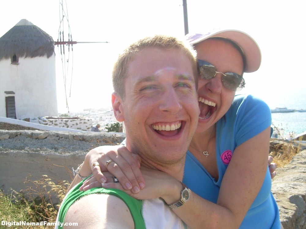 Having fun on Mykonos